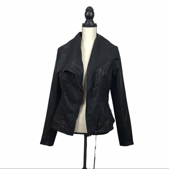 Blank NYC Jackets & Blazers - NEW Blank NYC Vegan Leather Moto Jacket